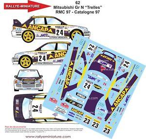 【送料無料】模型車 スポーツカー デカールランサースペインカタロニアラリーdecals 118 ref 62 mitsubishi lancer trelles rally spain catalonia 1997
