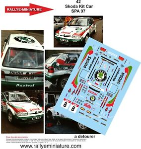 【送料無料】模型車 スポーツカー ステッカー11842 skoda feliciastolfaバックル1997セット