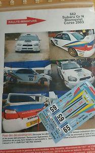 【送料無料】模型車 スポーツカー ステッカー118662スバルimpreza blomqvistツアーde2003wrc