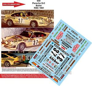 【送料無料】模型車 スポーツカー カーロ1981ステッカー118659ポルシェ911バレエwrc