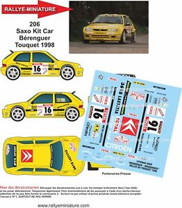 【送料無料】模型車 スポーツカー ステッカー118206シトロエンサクソキットカーberenguertouquet 1998