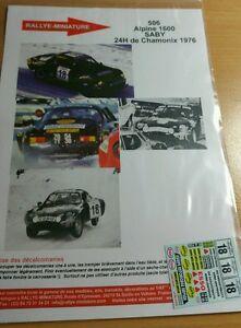 【送料無料】模型車 スポーツカー ディーキャル112506シャモニ1976renault a110 24 sabydecals 112 ref 506 alpine renault a110 saby 24 hours of chamonix 1976