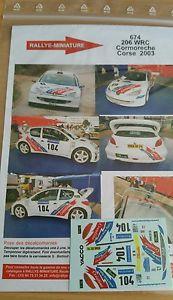 【送料無料】模型車 スポーツカー デカールプジョーレースdecals 118 ref 674 peugeot 206 wrc coromeche racing circumference