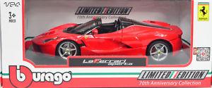 【送料無料】模型車 スポーツカー フェラーリlaferrarim124 70thanniversary collection by bburagoferrari laferrari open red m 124 70th anniversary collection by b