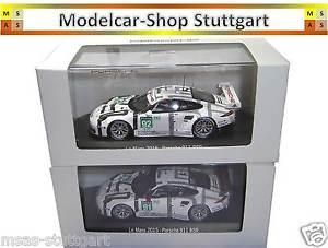 【送料無料】模型車 スポーツカー 2xポルシェ911 rsrルマン201591921432 x porsche 911 rsr le mans 2015 91 and 92 spark 143 museum edition brand