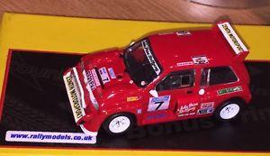 【送料無料】模型車 スポーツカー ネットワークジョンコードラリーixo 143 mg metro 6r4 john rally of the lakes code 3 with