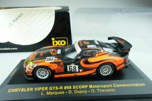 【送料無料】模型車 スポーツカー ネットワーククライスラーバイパー#モータースポーツボックスixo 143 chrysler viper gtsr 68 scorp motorsport comm lmm052 box 108128