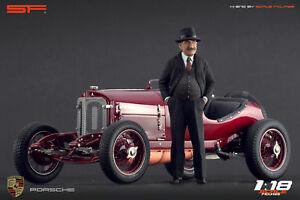 【送料無料】模型車 スポーツカー フェルディナンドポルシェスケール118 character ferdinand porsche of scale figures for cmc autoart exoto