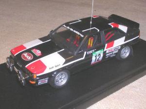 【送料無料】模型車 スポーツカー アウディクワトロラリーポルトガルムートンポンスタップレーシングaudi quattro gr4 rally portugal tap 1981 mouton pons racing 43 143 true
