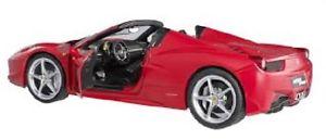 【送料無料】模型車 スポーツカー マテルホットホイールフェラーリスパイダーmattel hot wheels 118 ferrari 458 spider 2012red