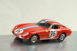 【送料無料】模型車 スポーツカー フェラーリ#ルマン1966 ferrari 275 gtb 26 24h le mans biscaldide bourbonparme 118 cmr