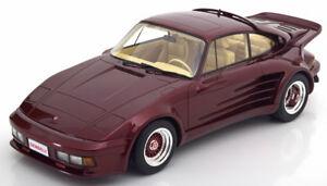 【送料無料】模型車 スポーツカー ボスポルシェターボメタリック118 bos porsche 911 turbo gemballa darkredmetallic