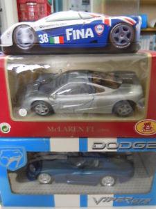 【送料無料】模型車 スポーツカー 124 ovp3マクラレンf1gtsモデルthree rare mclaren f1 and dodge viper gts models in 124 ovp
