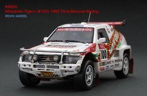 【送料無料】模型車 スポーツカー #パジェロパリモスクワダカールラリーlast one hpi 8930 mitsubishi pajero 1992 paris beijing moscow dakar 143 resin