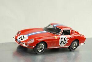 【送料無料】模型車 スポーツカー フェラーリ#ルマンバーボン1966 ferrari 275 gtb 26 24 h le mans biscaldi de bourbonparme 118 cmr