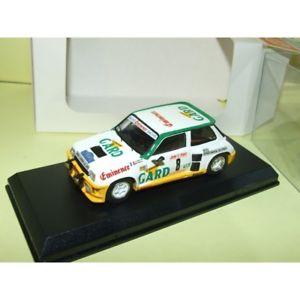 【送料無料】模型車 スポーツカー ルノーマキシターボラリーデミニレーシングキットマウントrenault 5 maxi turbo rallye de cvennes 1985 touren mounted mini racing kit 143