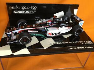 【送料無料】模型車 スポーツカー ミナルディコスワース#ウィルソン143 european minardi cosworth ps03 18 j wilson 2003