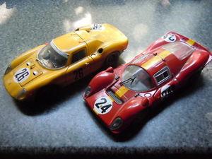 【送料無料】模型車 スポーツカー レアフェラーリレーシングマテルモデル2 x rare ferrari p 4 and 250 lm racing models by jouef and mattel in 118