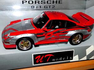 【送料無料】模型車 スポーツカー モデルポルシェグアテマラut models porsche 911 gt2 118 amp; ovp