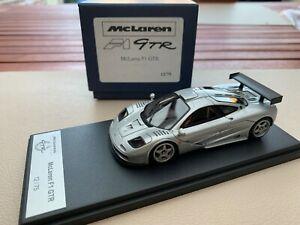 【送料無料】模型車 スポーツカー マクラーレンダウンフォースキットautoart mclaren f1 gtr bmw silver with high downforce kit 143 bbr