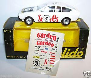 【送料無料】模型車 スポーツカー solidoアルファロメオalfetta gtv 24スパ19763182old solido alfa romeo alfetta gtv 24 hours spa 1976 no 31 ref 82 in box