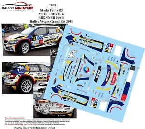 【送料無料】模型車 スポーツカー 1181639 skoda fabia r5 mauffreyvosgesディーキャル2018decals 118 ref 1639 skoda fabia r5 mauffrey rally vosges grand is 2018 rall