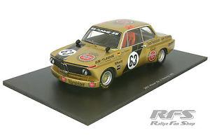 【送料無料】模型車 スポーツカー チームスパークシングルbmw 2002team warsteinerdrm norisring 1975upper moser 118 spark 18sg004