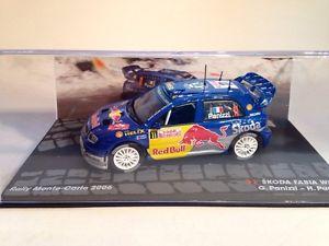 【送料無料】模型車 スポーツカー シュコダファビアパニッツィパニッツィラリーモンテカルロスケールskoda fabia wrc gpanizzi hpanizzi rally monte carlo 2006 143 scale