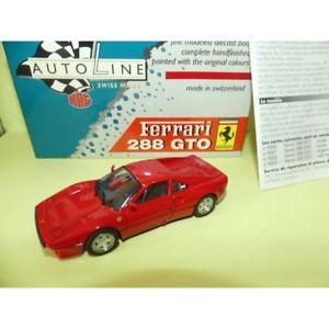 【送料無料】模型車 スポーツカー フェラーリferrari 288 gto red auto line hag 143