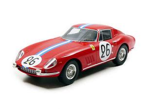 【送料無料】模型車 スポーツカー フェラーリ#リタイアプリンスドブルボンモデルferrari 275 gtb 26 dnf lm 1966 g biscaldiprince m de bourbon 118 model