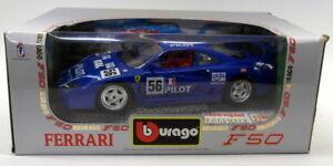 【送料無料】模型車 スポーツカー ブラーゴ118ダイカスト3352ferrari f40 198756レーシングカーモデルburago 118 scale diecast 3352 ferrari f40 1987 blue 56 race car model