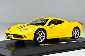 【送料無料】模型車 スポーツカー フェラーリイエロースケールferrari 458 spciale yellow scale 143 by bburago