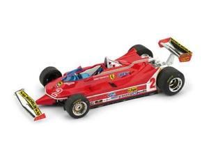 【送料無料】模型車 スポーツカー フェラーリジルヴィルヌーヴサーキット#モデルferrari 312 t5 gp brasile 1980 gilles villeneuve 2 brumm 143 r575 model