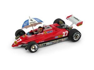 【送料無料】模型車 スポーツカー フェラーリ#ジルヴィルヌーヴサーキットチューモデルferrari f1 126c2 27 brasile gp 1982 gilles villeneuve brumm 143 r593chu model
