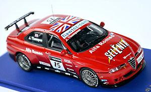 【送料無料】模型車 スポーツカー アルファromeo 156 gta wtcc200715 jthompson143 m4alfa romeo 156 gta wtcc 2007 15 jthompson red 143 m4