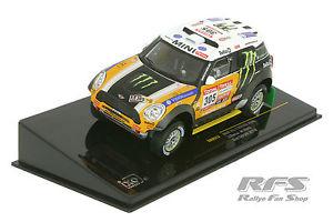 【送料無料】模型車 スポーツカー ミニレーシングチームモンスターエナジーダカールラリーネットワークmini all 4 racing team monster energy rally dakar 2012 143 ixo ram 573