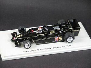 【送料無料】模型車 スポーツカー ロータスアンドレッティベルギースパークf1 lotus 79 andretti 1978 belgium 143 spark s1848