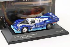 【送料無料】模型車 スポーツカー ブラン#キロスパ listingporsche 956 b brun 19 1000km spa 1985 bellof, boutsen 143 cmr
