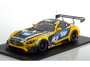 【送料無料】模型車 スポーツカー スパークメルセデスグアテマラニュルブルクリンクシングルspark 118 mercedes amg gt3 2eme 24h nurburgring 2018 18sg028