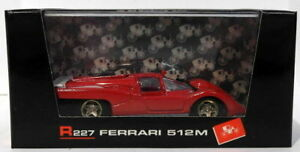 【送料無料】模型車 スポーツカー スケールフェラーリbrumm 143 scale r227 ferrari 512m prototipo 1970 red white