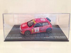 【送料無料】模型車 スポーツカー フィアットプントラリーサンレモfiat punto s1600 mbaldacci gbernacchini rally sanremo 2003 143