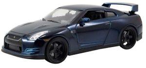 【送料無料】模型車 スポーツカー モデルブライアンオリジナルfast furious 7 model nissan gtr r35 by brian navy 124 original jada