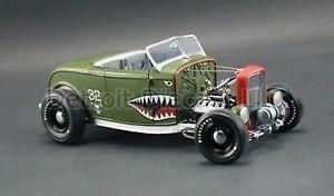 【送料無料】模型車 スポーツカー listing118gmp1932サメネズミv8 listing118 gmp 1932 green shark mouth aero rat rod v8 deuce