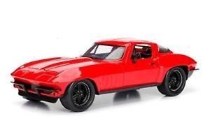【送料無料】模型車 スポーツカー モデルシボレーコルベットcharger fast amp; furious 8 model chevy corvette red by letty 124 jada
