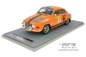 【送料無料】模型車 スポーツカー ラリースウェーデンsaab 96 v4 rally sweden 1975 blomqvistsylvan 118 tecnomodel tm1880c