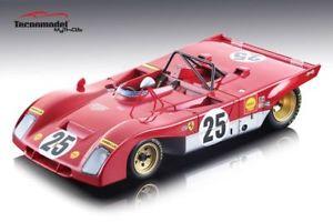 【送料無料】模型車 スポーツカー フェラーリ312 pb25 dnfセブリング1971アンドレッティイクス118モデルtecnomodel