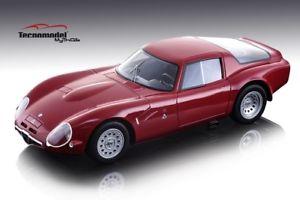 【送料無料】模型車 スポーツカー アルファロメオtz2 1965バージョン118モデルtecnomodelalfa romeo tz2 1965 press version red 118 model tecnomodel