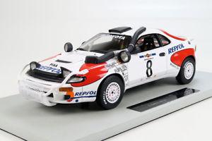 【送料無料】模型車 スポーツカー トップtoyota celica gt48 sainzmoyaサファリ1992118top marques toyota celica gt4 8 sainzmoya winner safari rally 1992 118