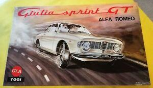 【送料無料】模型車 スポーツカー キットアルファジュリアスプリント123 togi kit assembled alfa giulia sprint gta 1965 street red boxed