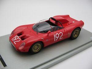 【送料無料】模型車 スポーツカー スケールアルファロメオタルガフローリオ118 scale tecnomodel alfa romeo 332 periscope targa florio 1967 tm1849d